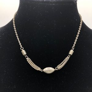 Vintage Silver Metal Hippie Style Chain Necklace